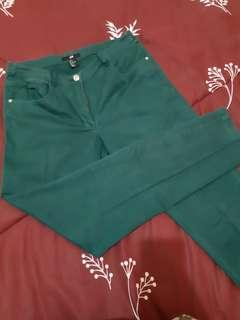 H&M slim fit trousers size S/EUR 36, color green