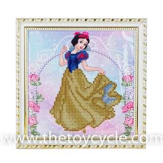 🚚 Cartoon Crystal Beads Craft Board - Disney Princesses: Cinderella / Belle / Ariel / Snow White / Princess Aurora