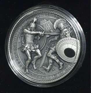 2017 Demigods Series – Achilles with Hematite 2 oz Silver Coin