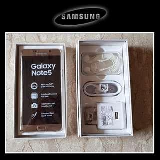 Samsung Galaxy Note 5 *32GB Gold Platinum*Need Replace LCD*