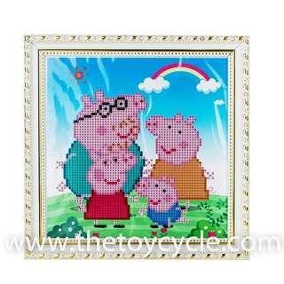 🚚 Cartoon Crystal Beads Craft Board - Peppa Pigs / Minions / Sophia