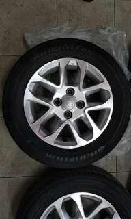 Perodua rim and tyre by Hankook