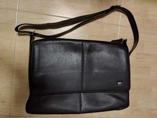 Braun Buffel messenger bag - Dark Brown leather