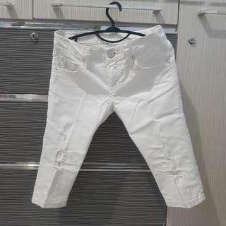 Celana jeans ripped putih/ white