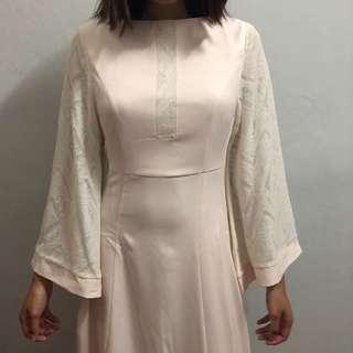 Zalia Lace Block Dress