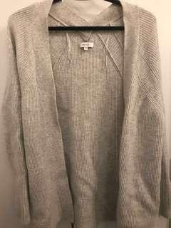 REISS Grey Wool Cardigan Sweater- XS