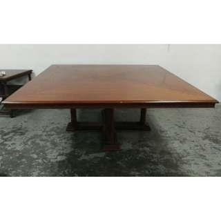 Old wood ,big  solid wood square  table