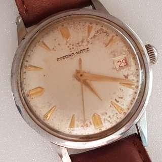 🚚 Vintage Timepiece, Rare ETERNA MATIC wrist watch, Swiss Made, Self winding Model, Eterna Watch Company, Designer Timer, Famous in Israeli Military