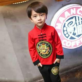 Set China Style Children Boys Girls Clothing Sets Baby Boys T-shirts Pants 2 Pcs/Sets Kids Clothes Toddler Tracksuits