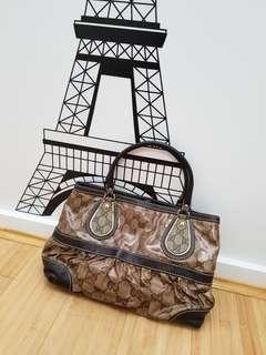 Gucci GG Crystal Tote Bag Brown