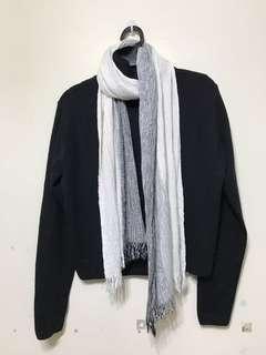 韓貨黑色高領短版針織衣