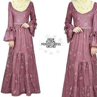 #MY1212 PRINTED FLORAL DRESS