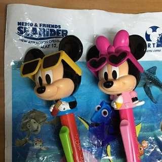 日本迪士尼 米奇/米妮 造型 原子筆 聖誕節禮物