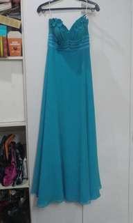 FOR RENT: Designer Gown - Teal Tube