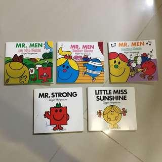 $3.50 for 5 Mr. men Children McDonald  Books