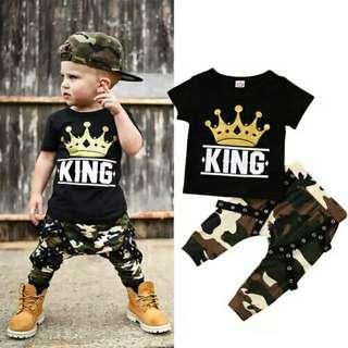 Set Toddler Kids Baby Boys Clothes Set T Shirt Top Camo Camouflage Pants Outfits Set Children Boy Clothes 0-5T