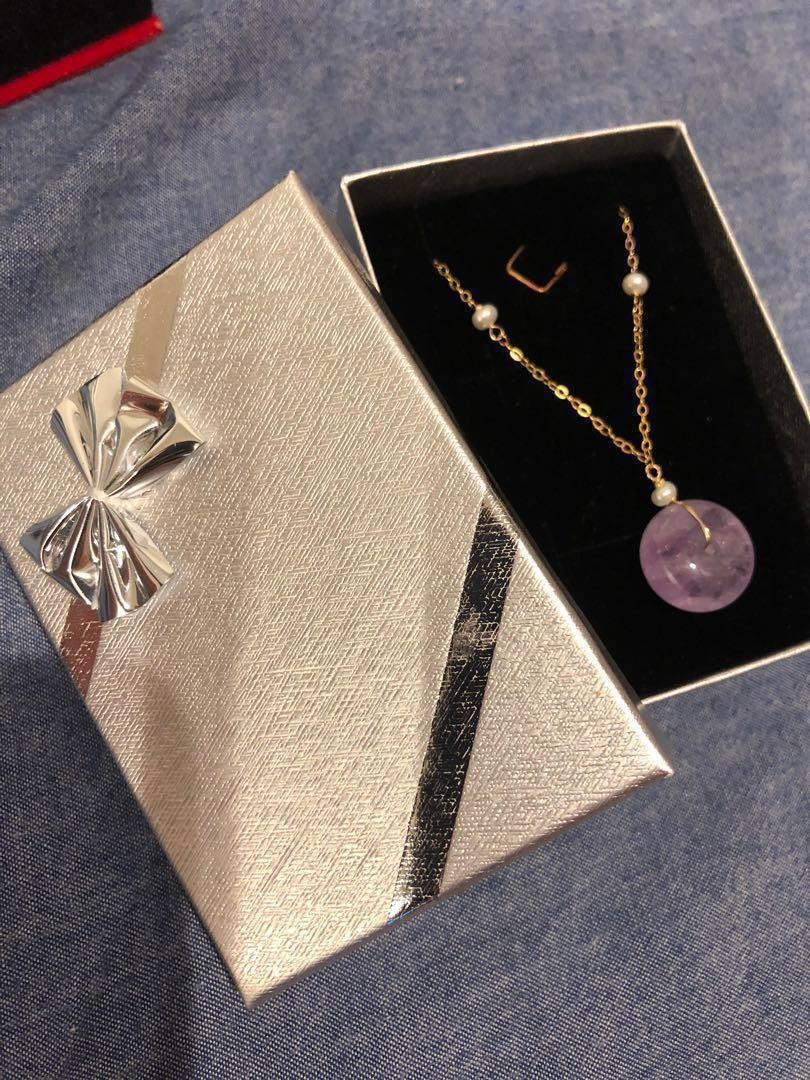 14K gold 平安扣 necklace
