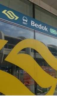 Bedok MRT HDB 3 Room Flat Rental with Utility Room