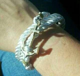 🎄SALE: White Nautical Anchor Bracelet