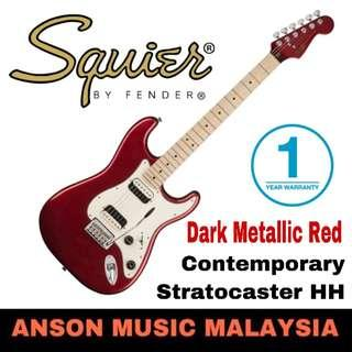 Squier Contemporary Stratocaster HH Electric Guitar, Dark Metallic Red