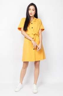 Ash Label Elxie Button Down Dress (Yellow)