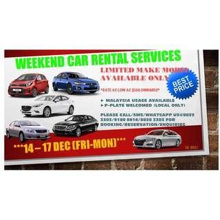 WEEKEND CAR RENTAL PROMO!!!!