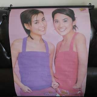 Twins poster 掛畫 海報 yes 絕版 珍藏