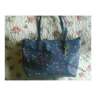 Fossil Navy Dot Shopper