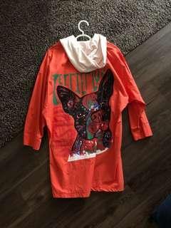 Emer Orange bulldog Trenchcoat