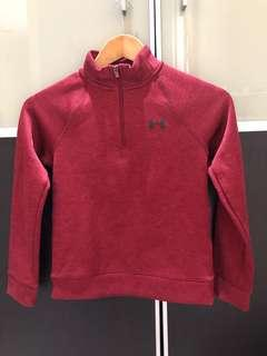 Pre loved Under armour UA boys red sweater size S (7-8Y)