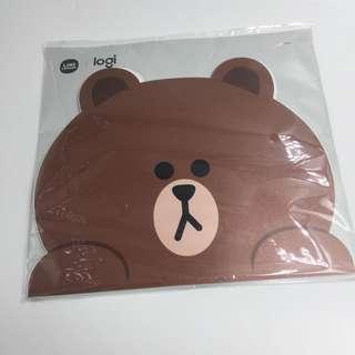 Line Friends 熊大滑鼠墊