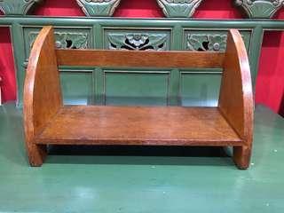 Vintage teakwood table shelf