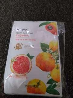 the saem grapefruit 面膜 10塊