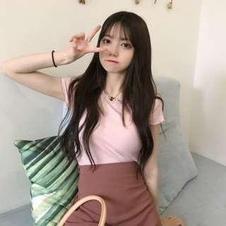 PO: Whaley's ribbed ruffle sleeve top (Korean Fashion) (First 4 Colours)