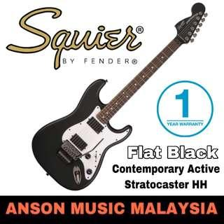 Squier Contemporary Active Stratocaster HH Electric Guitar, Flat Black