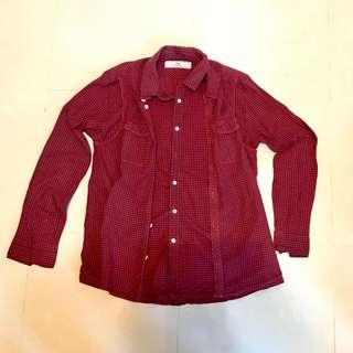 Initial double layer checkers shirt
