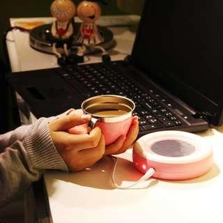 USB CUP WARMER FOR TEA COFFEE MILK AND OTHER BEVERAGES | THIS IS NOT A HOT PLATE