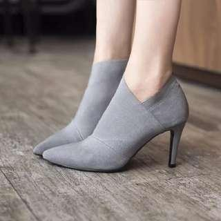 Women Pointed Toe High Heels Basic Ankle Fashion Shoes