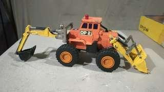 bulldozer backhoe diapet diecast toy