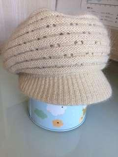 [包郵] 女裝 冷帽 米黃色