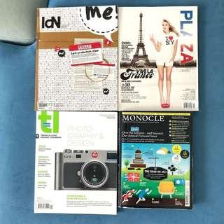 Fashion Design Photography Gadget Magazines x 3 ALL TOTAL $20