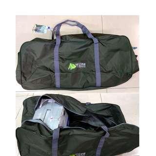 WO-YEAH沃野戶外露營旅行袋45L軍綠內層防水塗層居家行李收納包睡帶帳篷裝備包