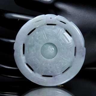 🚚 珍珠林 新品到 A貨緬甸紫羅蘭翠玉八卦時來運轉玉珮 辟邪利器 時來運轉#870