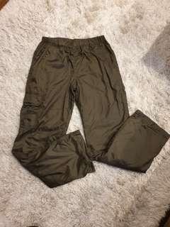 Olive Green Warm Lined Uniqlo Pants