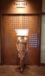 Forever 21 Sequin Halter Mini Dress