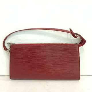 👉LV Clutch Red Epi Leather #l2b