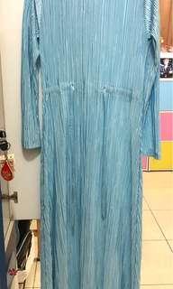 women blue dress, vanilla