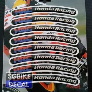 Honda Racing Rim Strap Gel