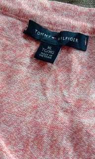 1606 TOMMY HILFIGER PEACH CARDIGAN (XL)