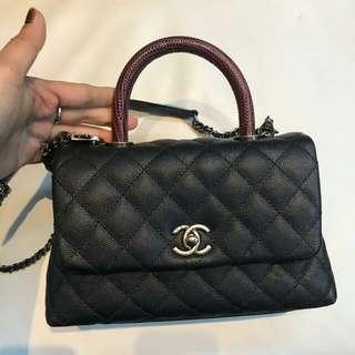 👉CHANEL Coco Handle SMALL Lizard #l2 b